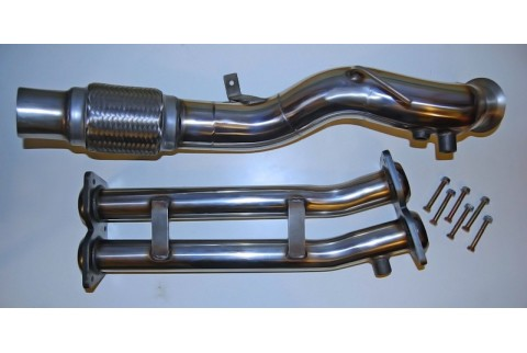 Downpipe 535d E60 Suppression précatalyseur Inox