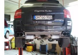 Catback Inox Porsche Cayenne 76mm  Friedrich Motorsport